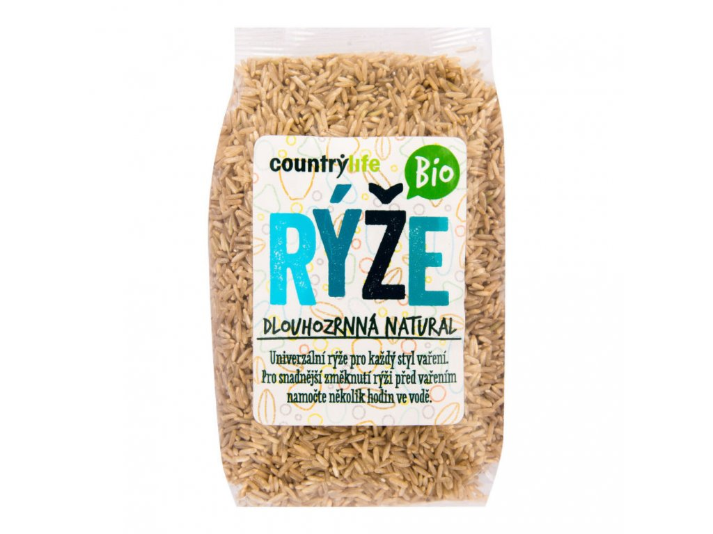 Rýže dlouhozrnná natural COUNTRY LIFE BIO 500 g