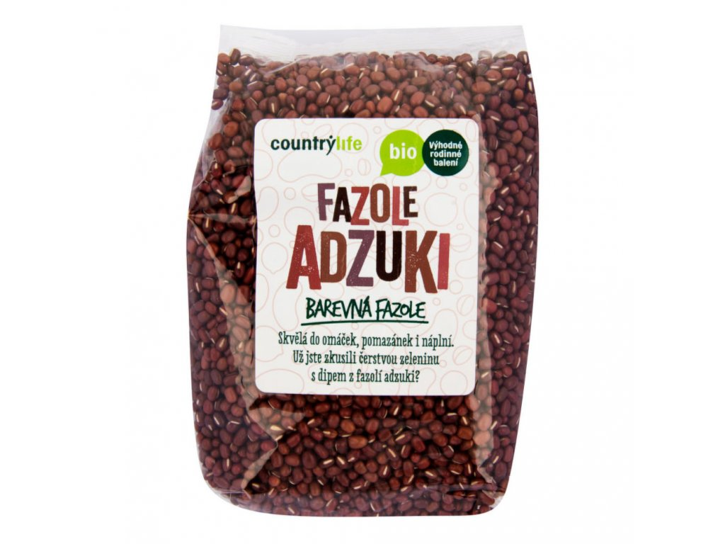 Fazole adzuki COUNTRYLIFE BIO 1 kg