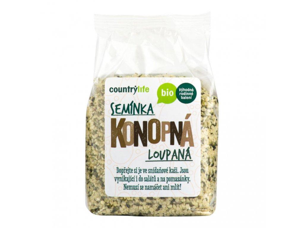 Konopná semínka loupaná COUNTRYLIFE BIO 250 g