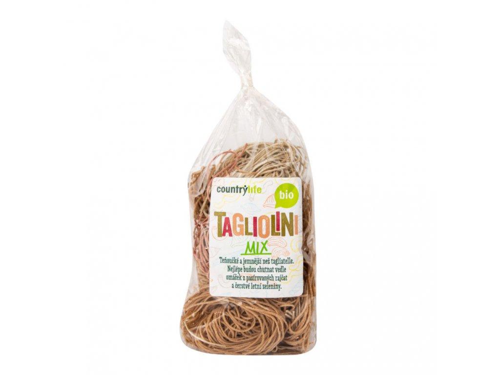 Těstoviny tagliolini mix COUNTRY LIFE BIO 400 g