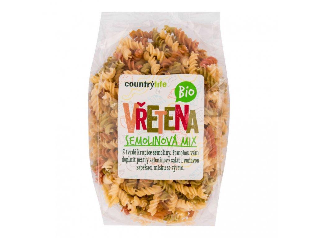 Těstoviny vřetena semolinová mix COUNTRYLIFE BIO 400 g