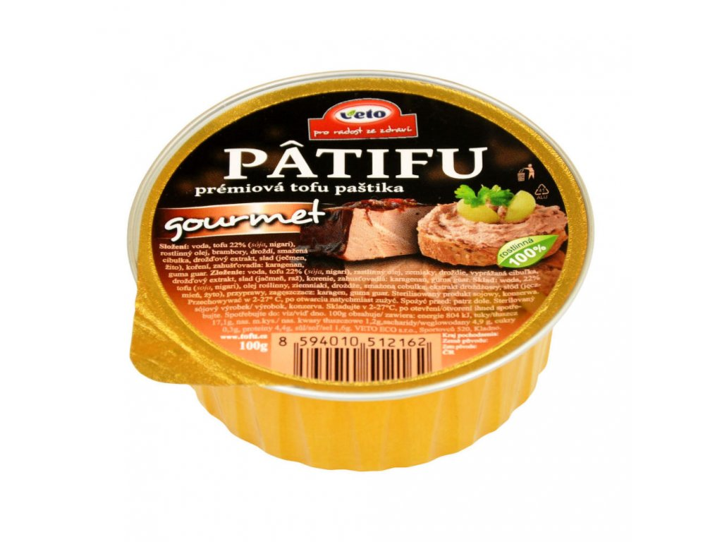 Paštika PATIFU gourmet VETO ECO 100 g