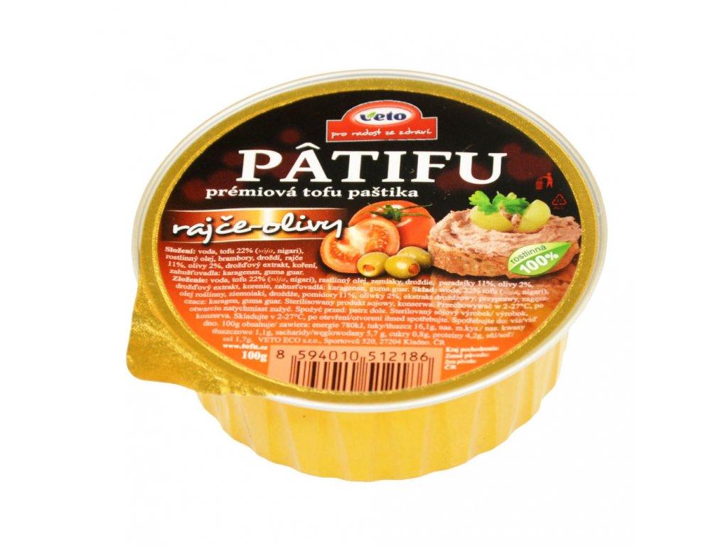 Paštika PATIFU rajče a olivy VETO ECO 100 g