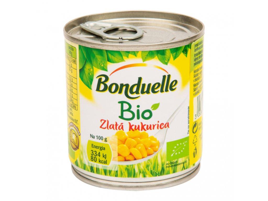 Kukuřice sterilovaná zlatá BONDUELLE BIO 150 g