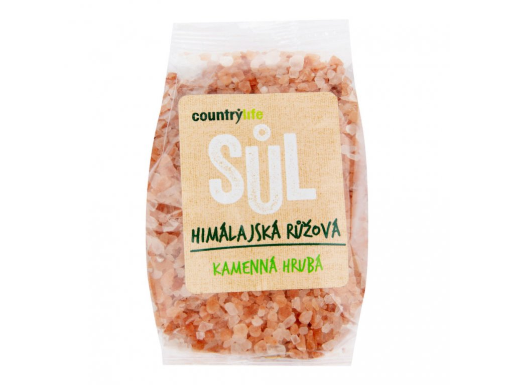 Sůl himálajská růžová hrubá COUNTRY LIFE 500 g