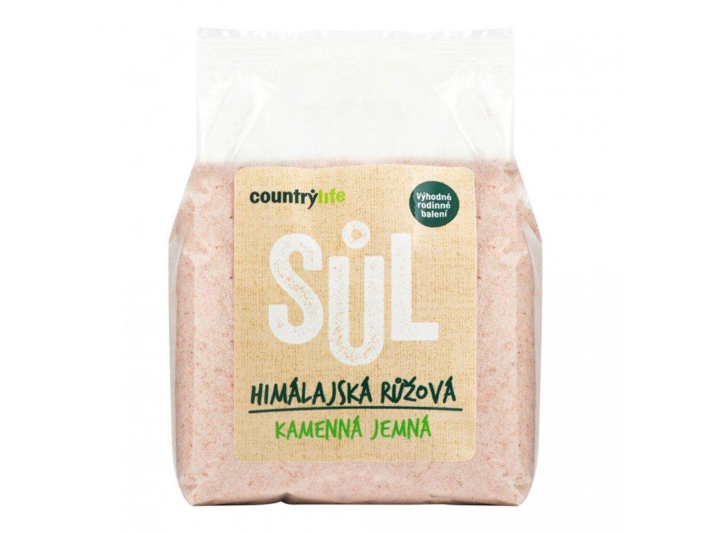 Sůl himálajská růžová jemná COUNTRYLIFE 1 kg