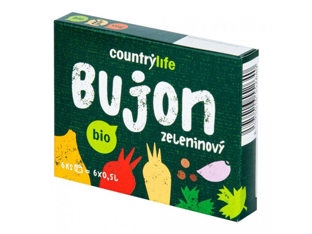 Bujon zeleninový kostky COUNTRY LIFE BIO 66 g
