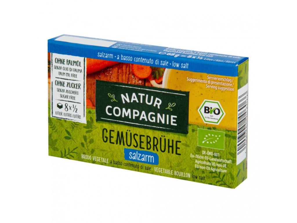 Bujon zeleninový kostky s nízkým obsahem soli NATUR COMPAGNIE BIO 68 g