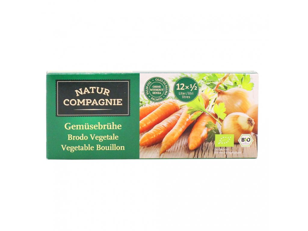 Bujon zeleninový kostky NATUR COMPAGNIE BIO 126 g