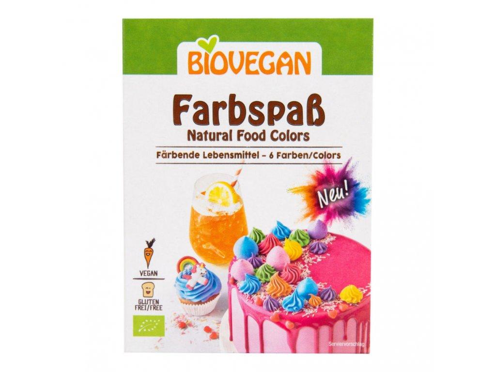 Potravinářské barvivo bezlepkové BIOVEGAN BIO 5x8 g