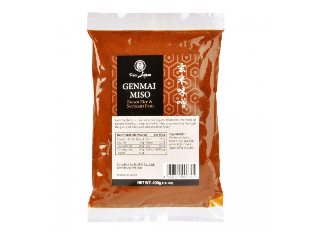 Miso genmai hnědá rýže MUSO 400 g