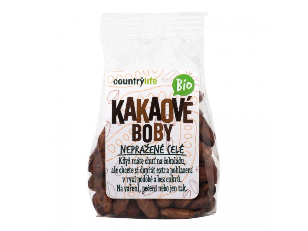 Kakaové boby nepražené celé COUNTRY LIFE BIO 100 g