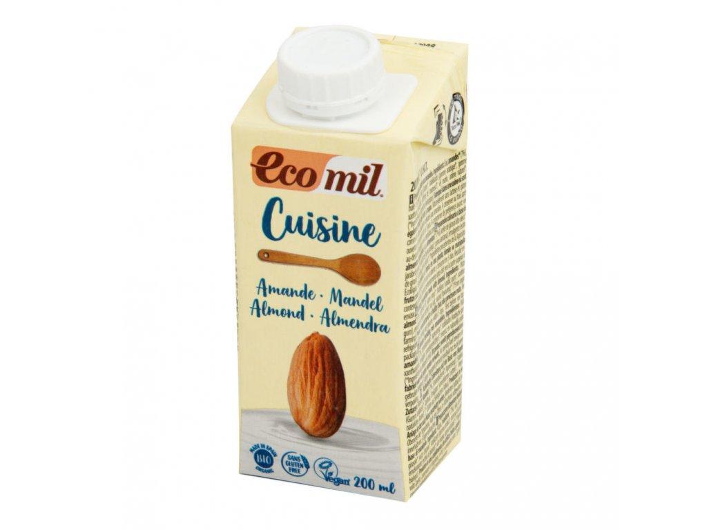 Mandlová alternativa smetany ECOMIL BIO 200 ml