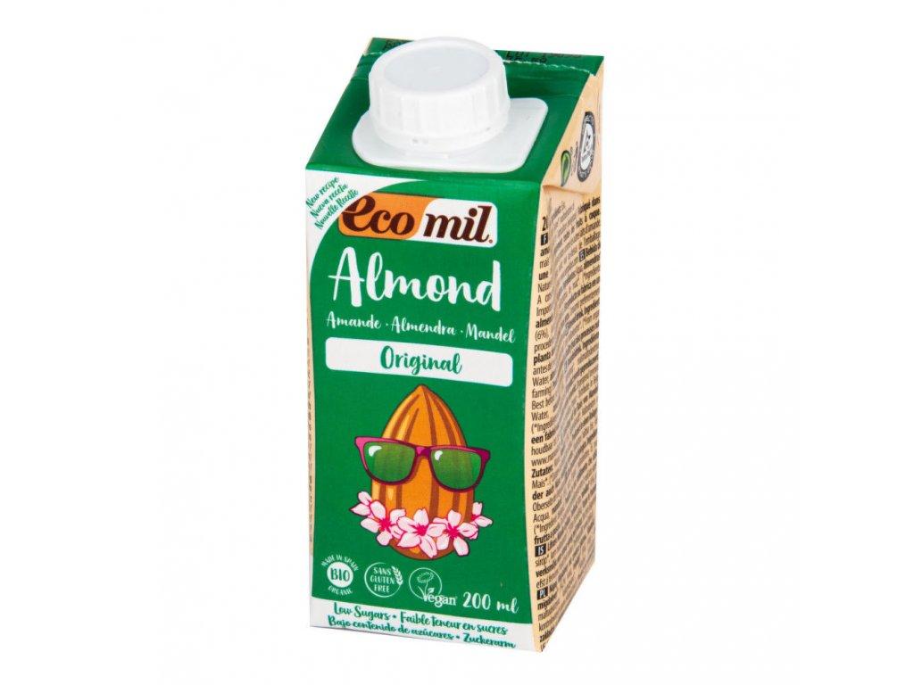 Nápoj ze sladkých mandlí ECOMIL BIO 200 ml