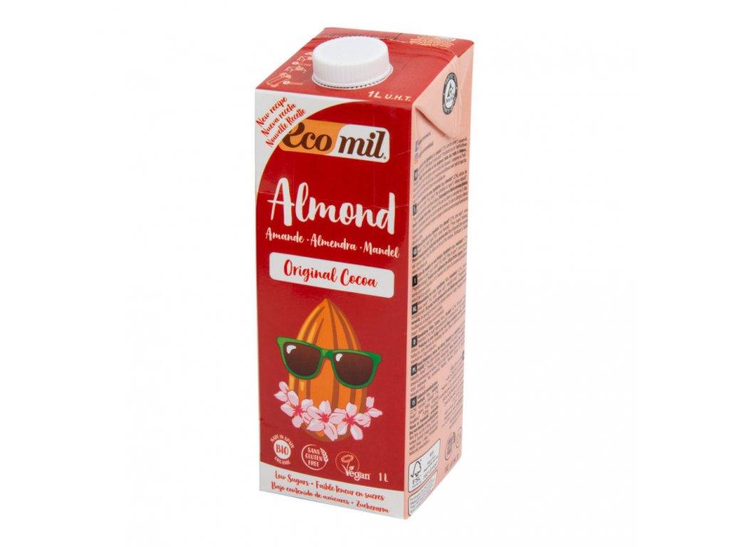 Nápoj ze sladkých mandlí kakao ECOMIL BIO 1 l