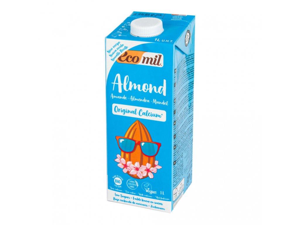 Nápoj ze sladkých mandlí s kalciem ECOMIL BIO 1 l