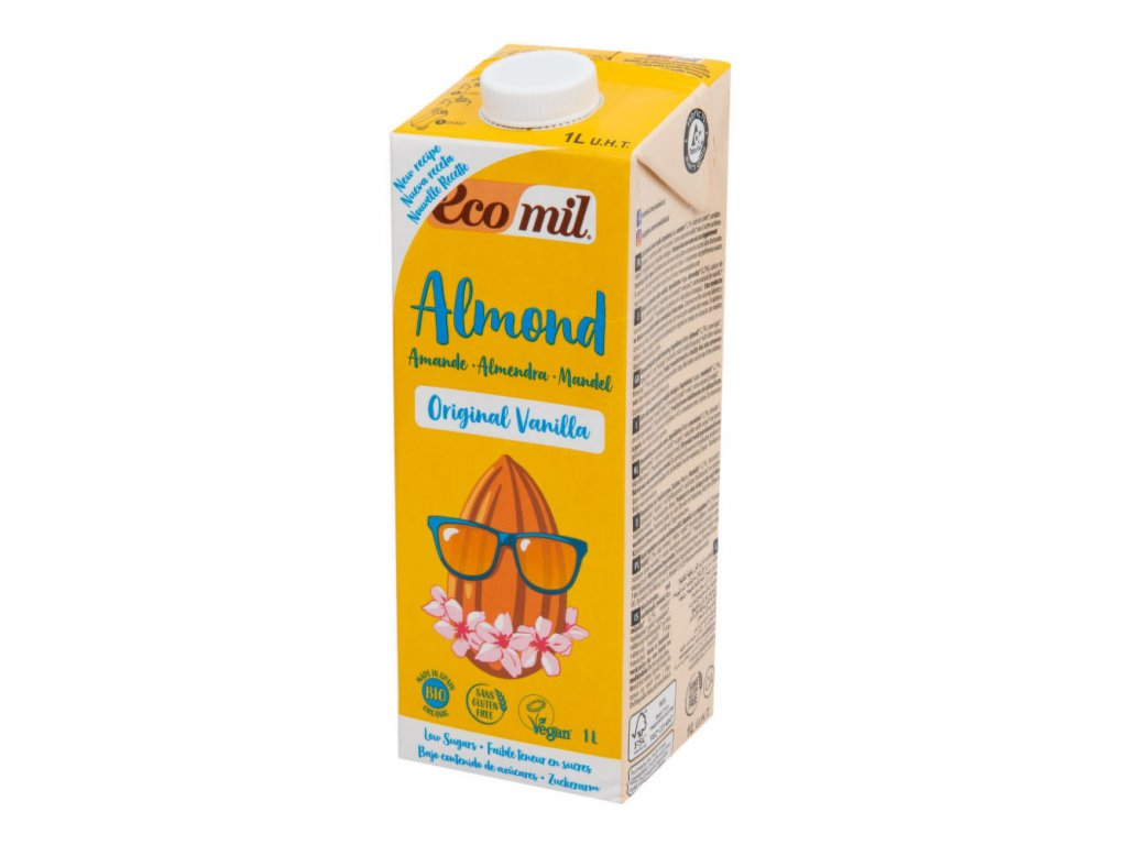 Nápoj ze sladkých mandlí vanilka ECOMIL BIO 1 l