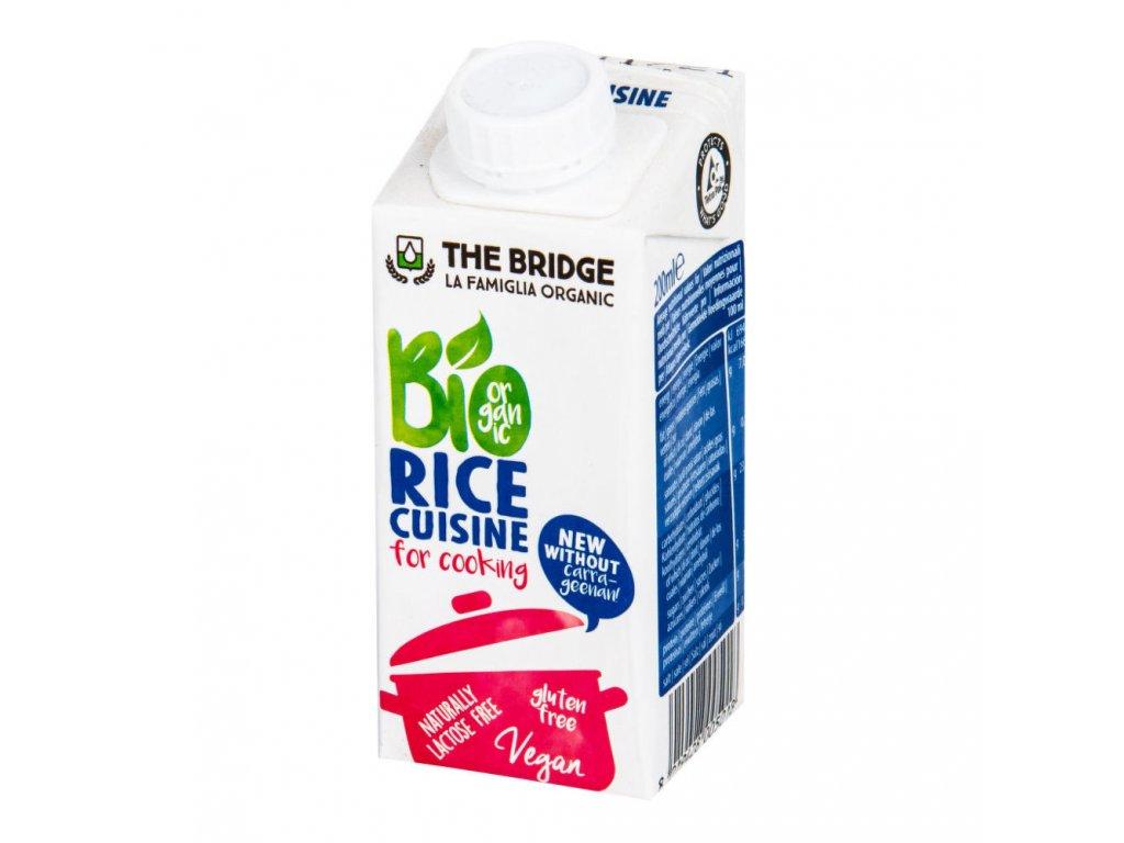 Rýžová alternativa smetany 7% tuku THE BRIDGE BIO 200 ml
