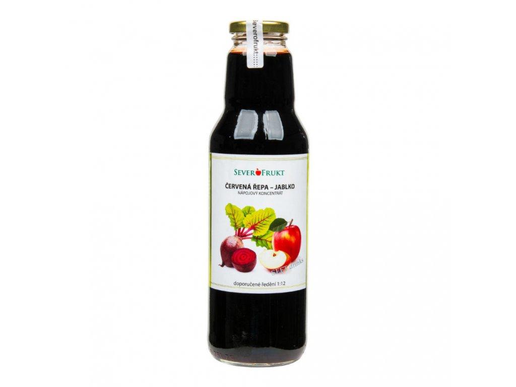 Koncentrát jablko červená řepa SEVEROFRUKT 750 ml