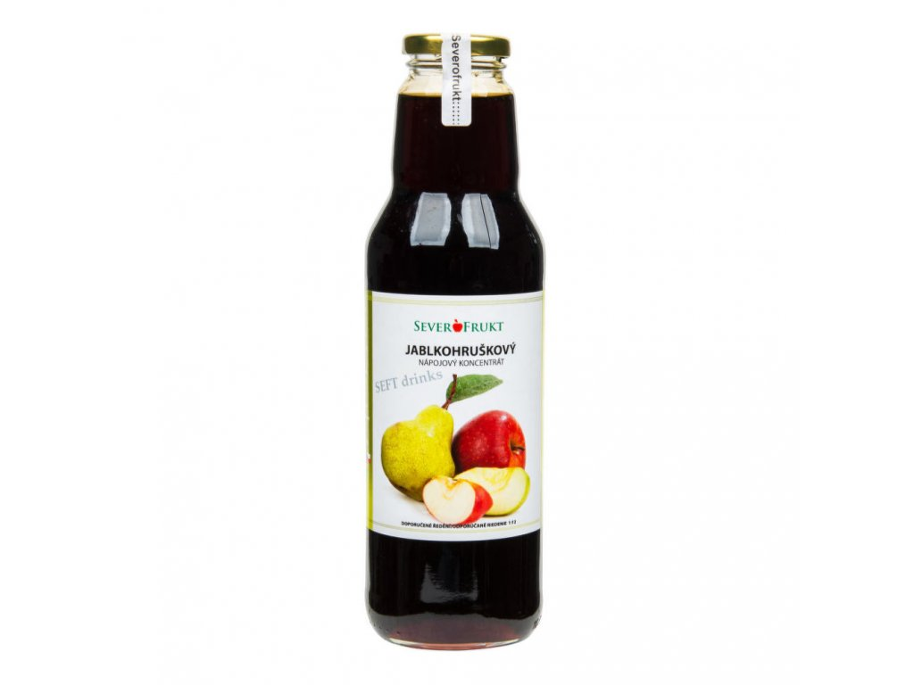 Koncentrát jablkohruškový SEVEROFRUKT 750 ml