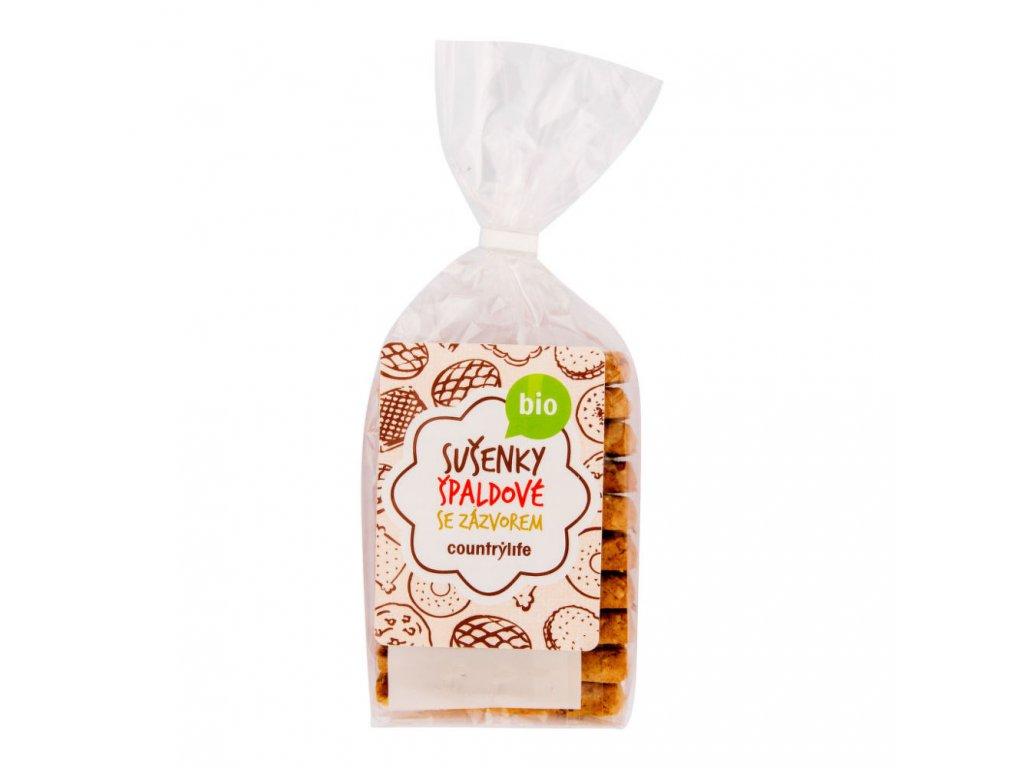 Sušenky špaldovo-zázvorové COUNTRY LIFE BIO 175 g
