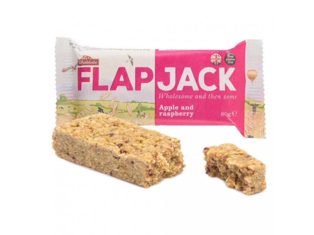 Flapjack ovesný malina-jablečná šťáva bezlepkový WHOLEBAKE 80 g