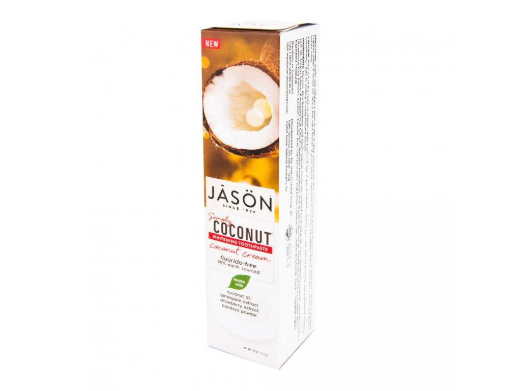 Zubní pasta simply coconut bělicí JASON 119 g
