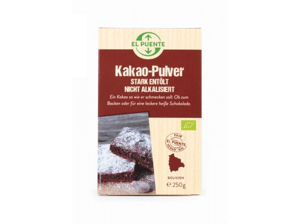 Kakaový prášek přírodní, silně zbavený tuku BIO Bolívie 250 g