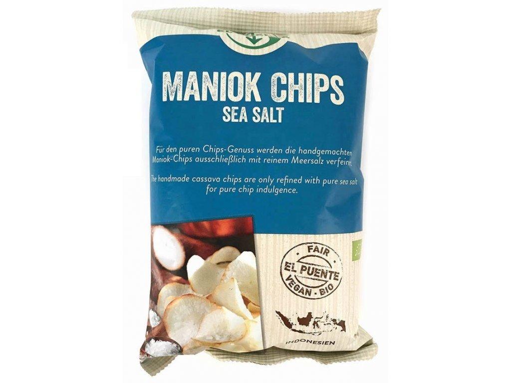 Maniokové chipsy s mořskou solí BIO 30 g