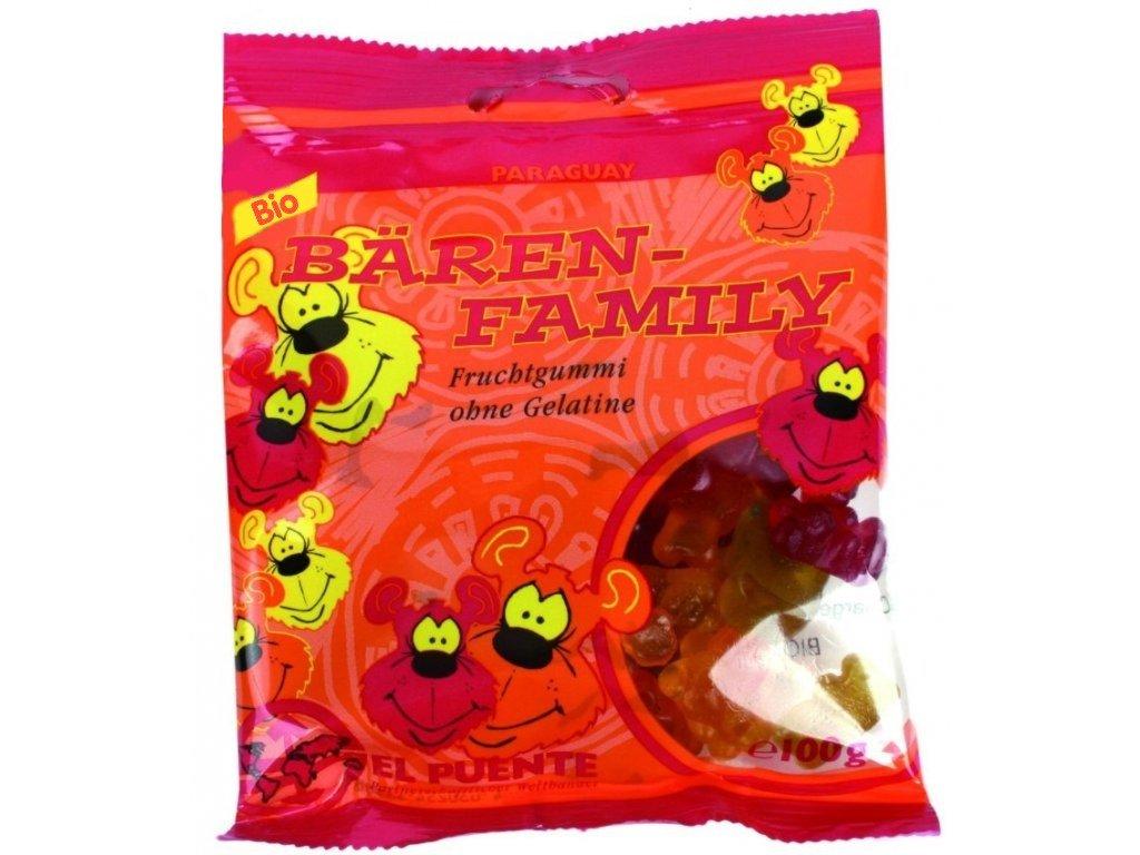 Medvědí rodinka BIO - želatinové bonbony s rostl. želatinou 100 g