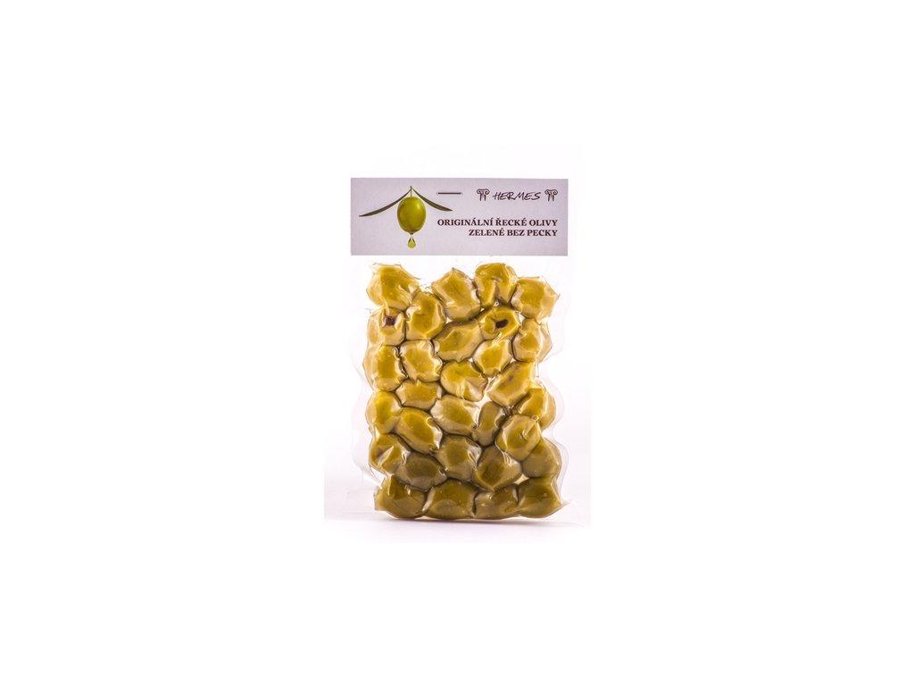 Zelené olivy bez pecky vakuum 140 g