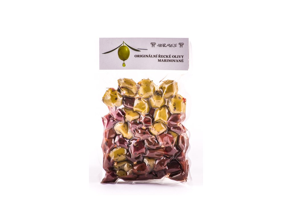 Marinované olivy mix vakuum 150 g