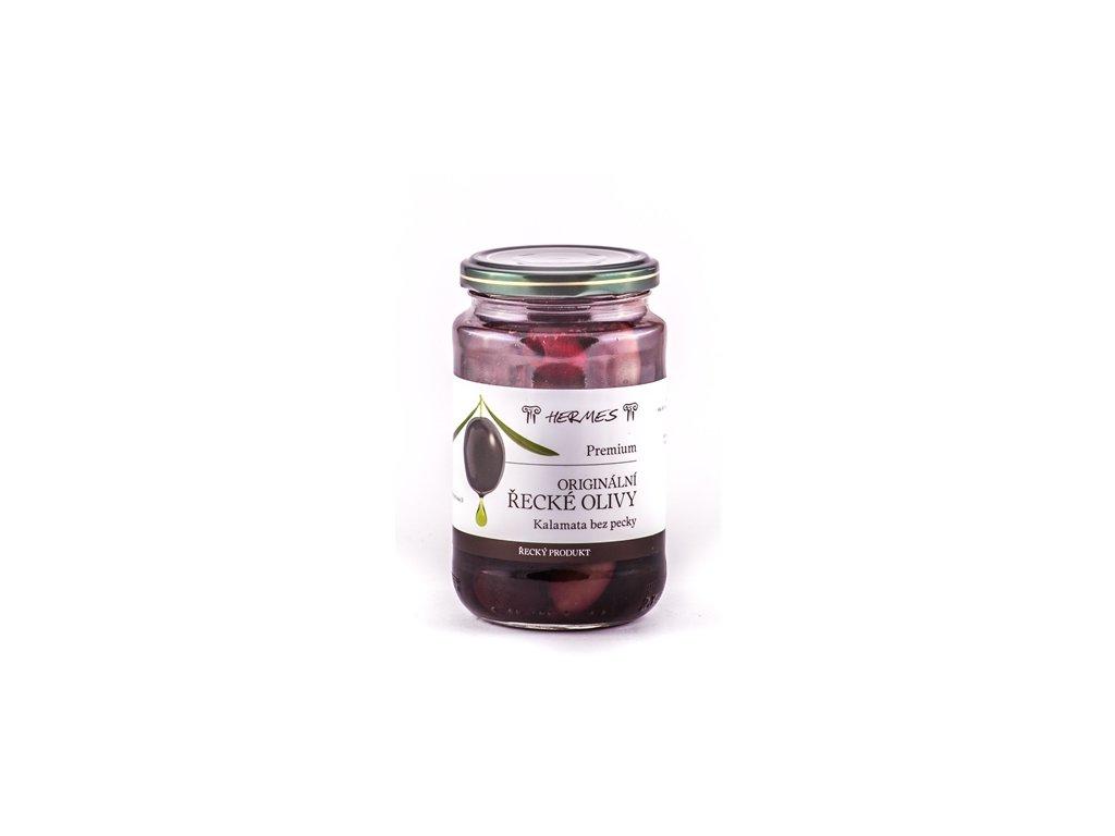 Olivy černé Kalamata /sklo 170 g