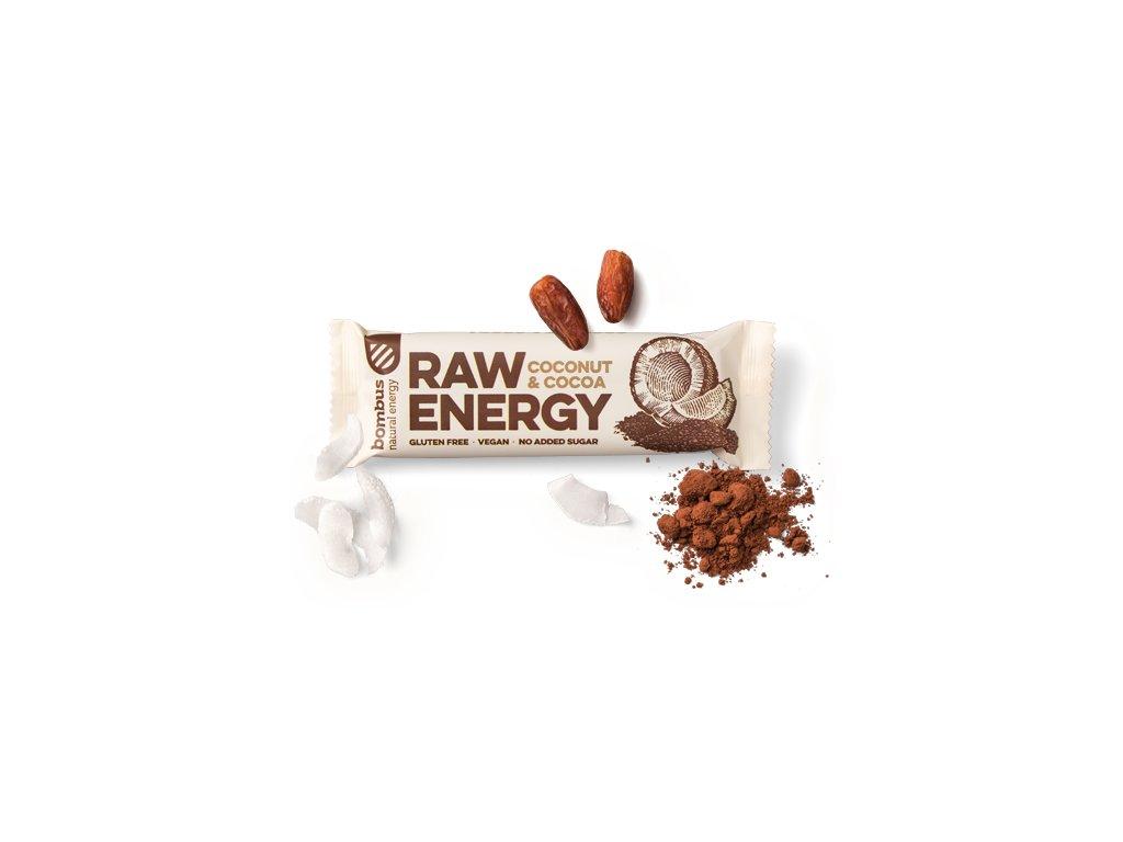 BOMBUS Raw Energy Cocoa+coconut 50 g
