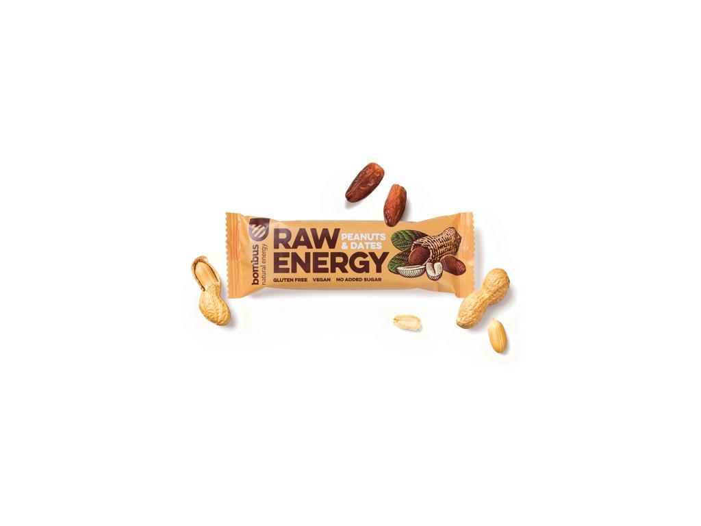 BOMBUS Raw Energy Peanuts & Dates 50 g