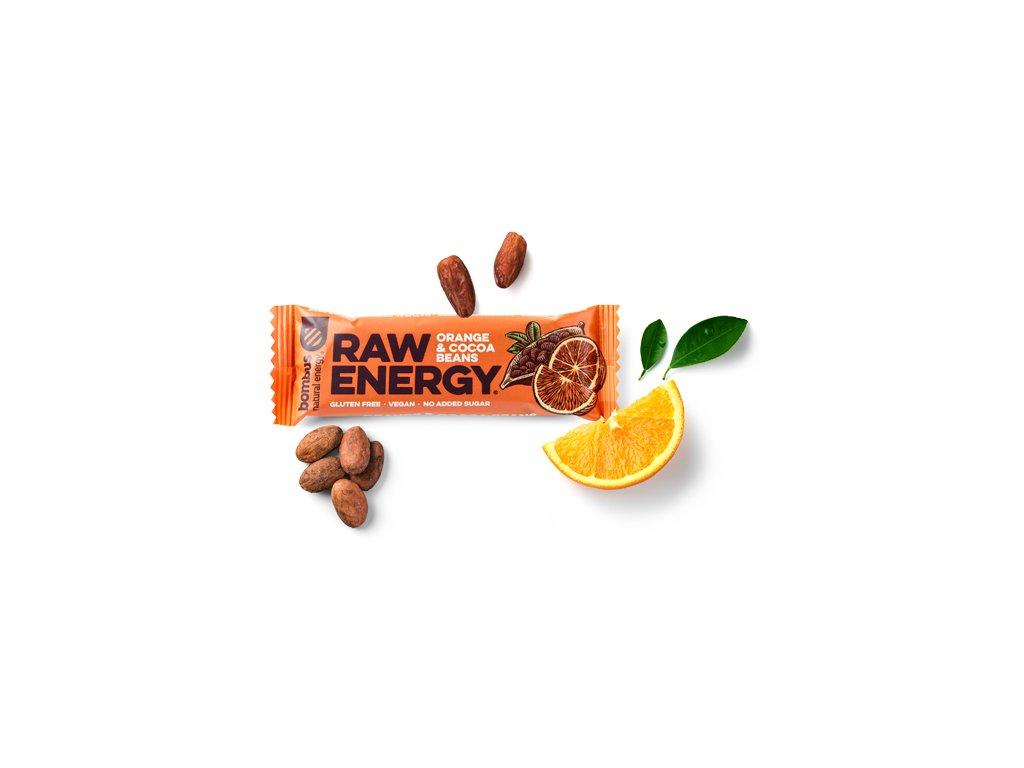 BOMBUS Raw Energy Orange&cocoa beans 50 g