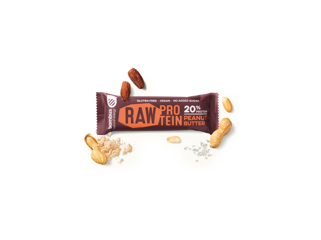 BOMBUS Raw protein-Peanut butter 50 g