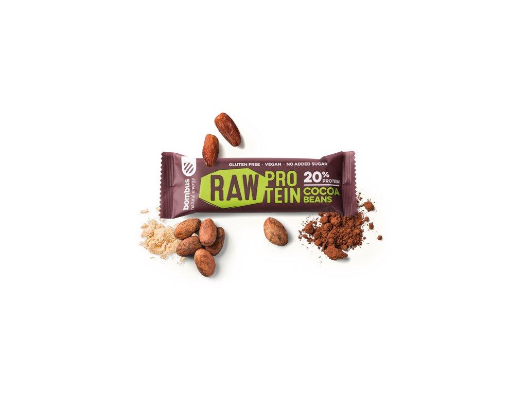 BOMBUS Raw protein-Cocoa beans50 g
