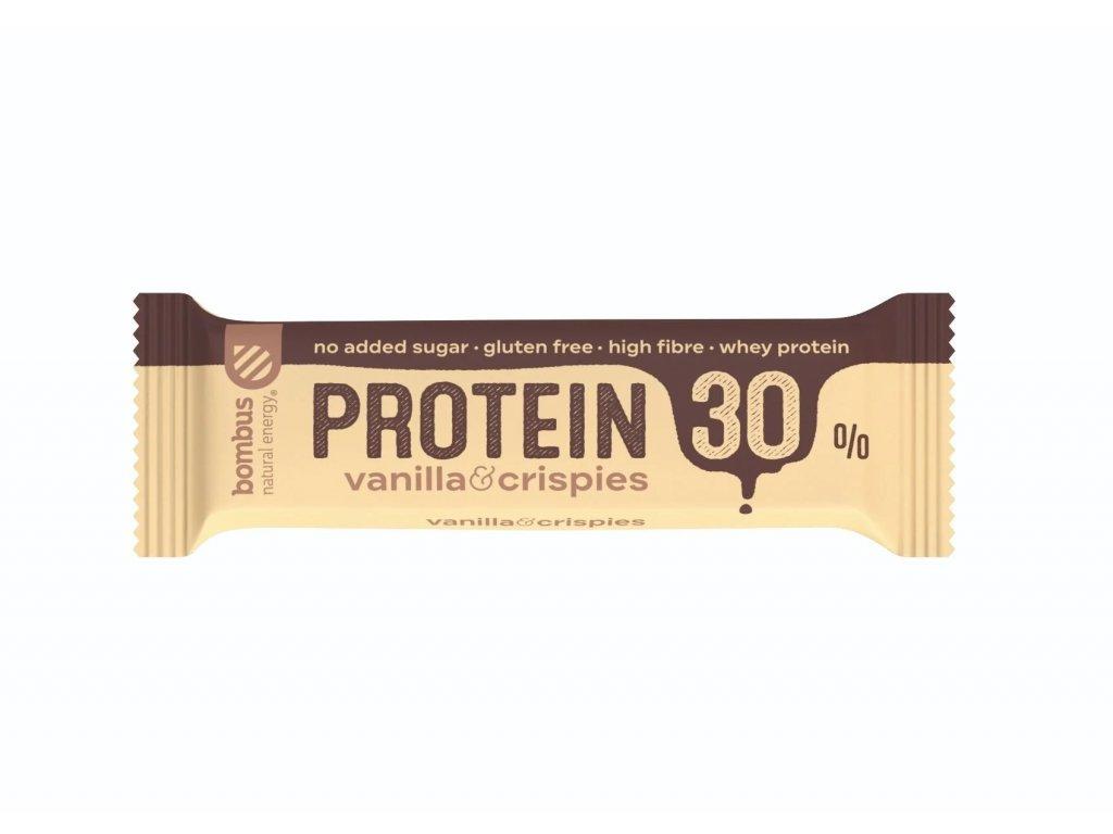 BOMBUS Protein 30% Vanilla&Crispies 50 g