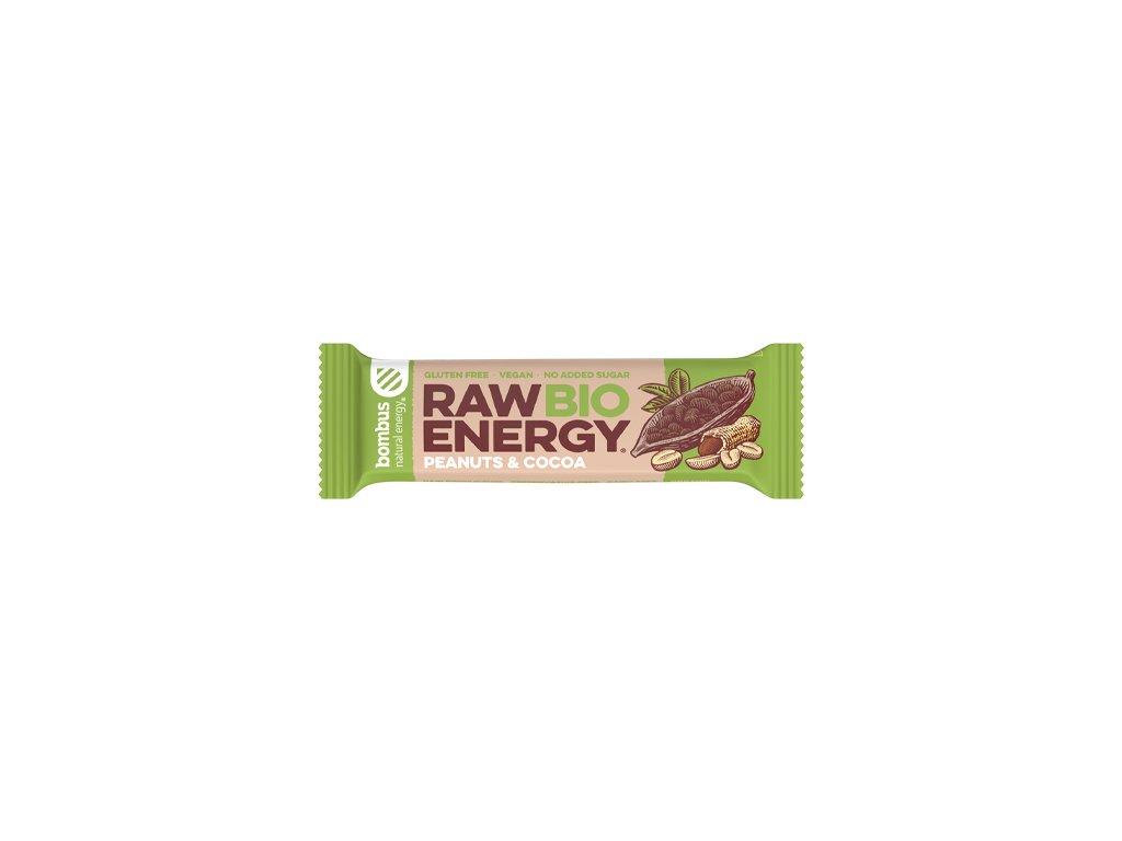 BOMBUS Raw BIO Energy Peanuts&cocoa 50 g