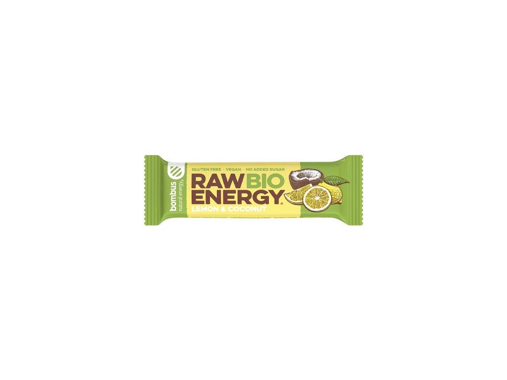 BOMBUS Raw BIO Energy Lemon&coconut 50 g