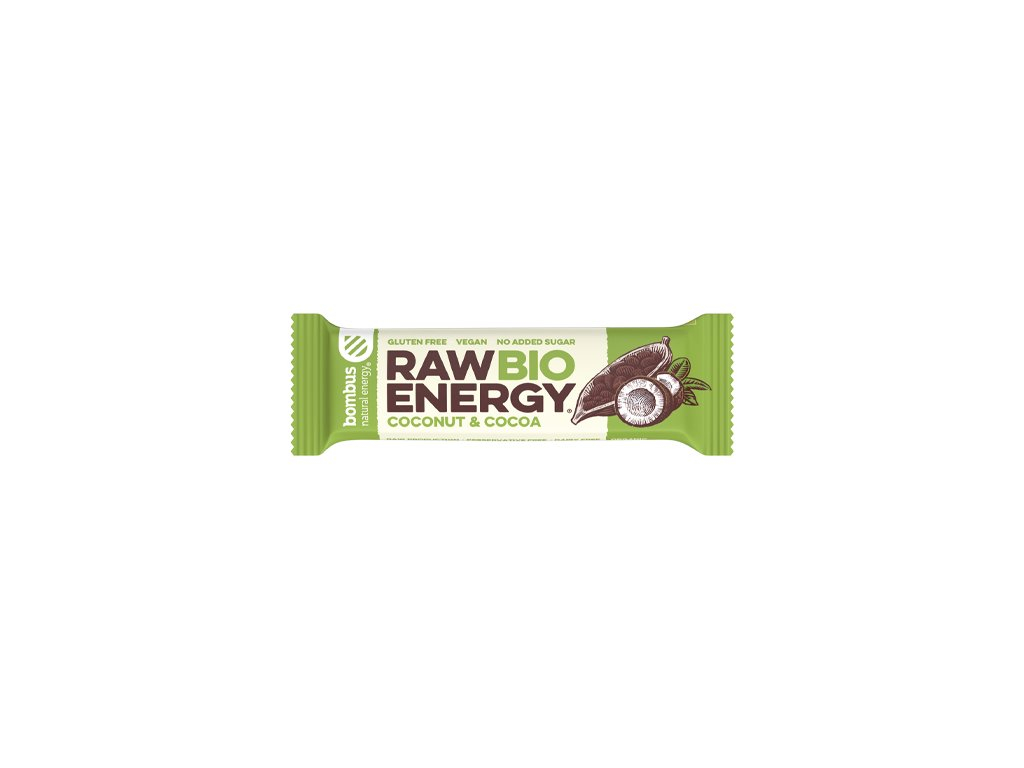 BOMBUS Raw BIO Energy Coconut&cocoa 50 g