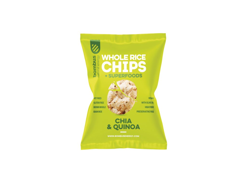 Rýžové chipsy CHIA & QUINOA 60 g BOMBUS