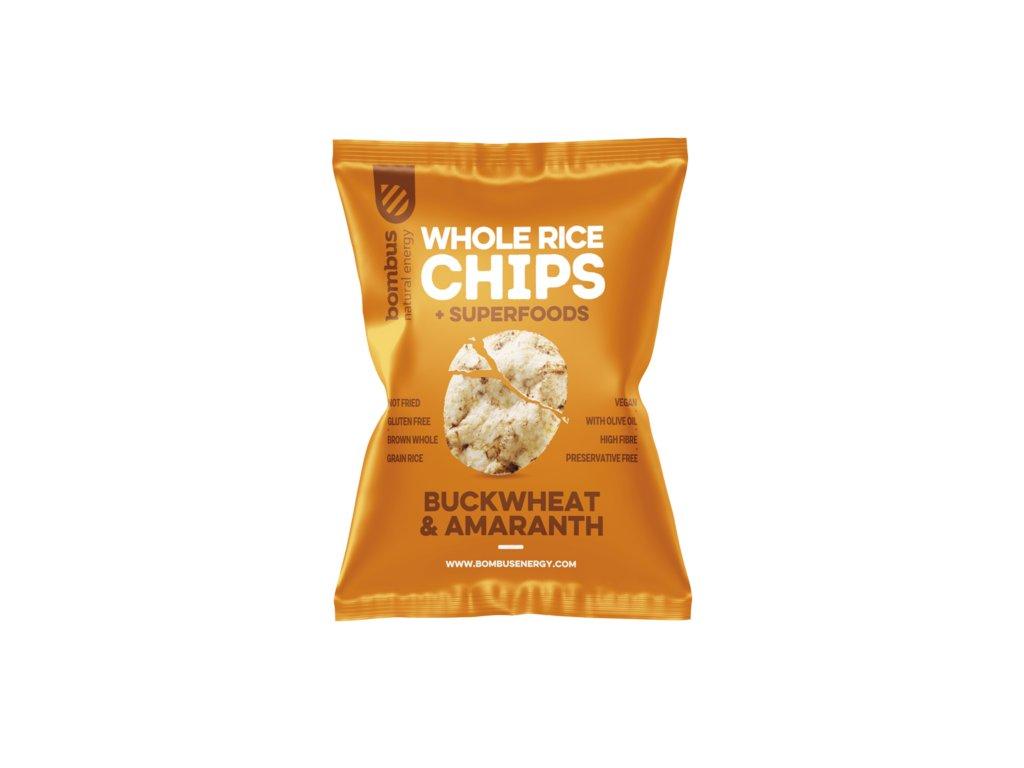 Rýžové chipsy POHANKA & AMARANTH 60 g BOMBUS