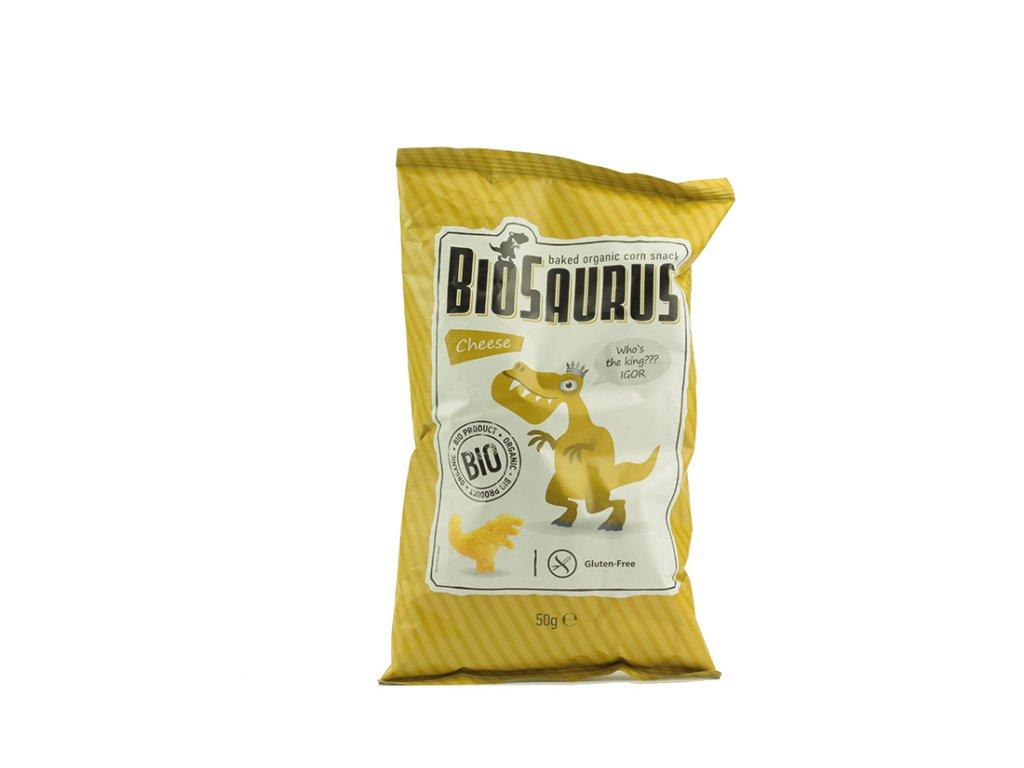 Křupky BioSAURUS - IGOR sýrový 50 g MCLLOYD´S