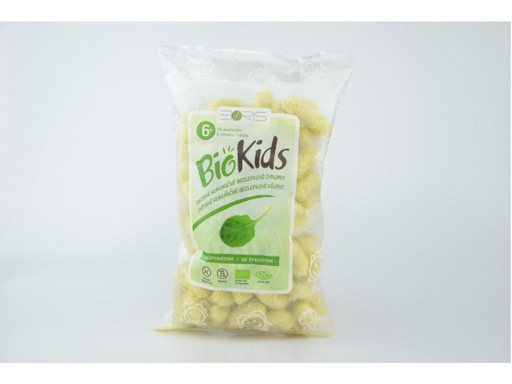 Křupky BioKIDS dětské bezlepkové se špenátem 55 g