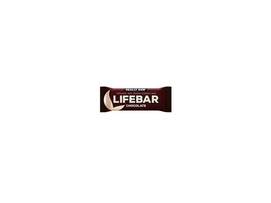 LIFEBAR BIO RAW čokoládová 47 g LIFEFOOD