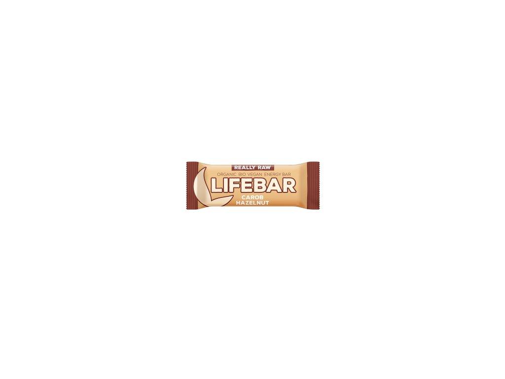 LIFEBAR BIO RAW karobová s lískovými oříšky 47 g LIFEFOOD