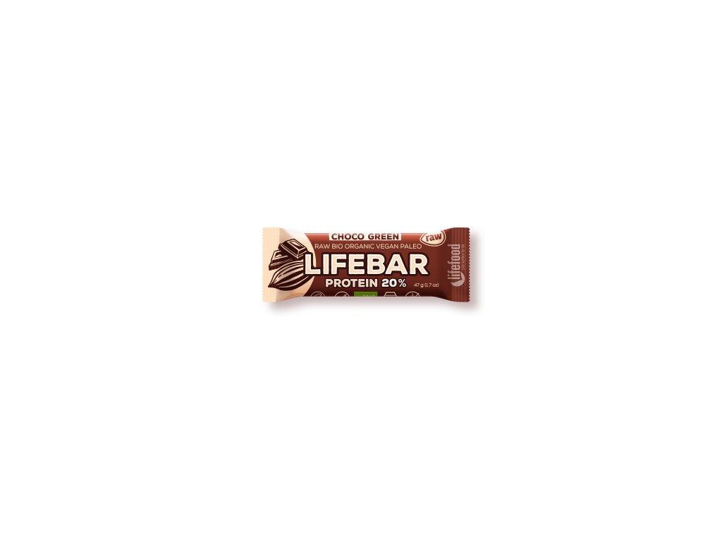 LIFEBAR PROTEIN BIO RAW čokoládová 47 g LIFEFOOD