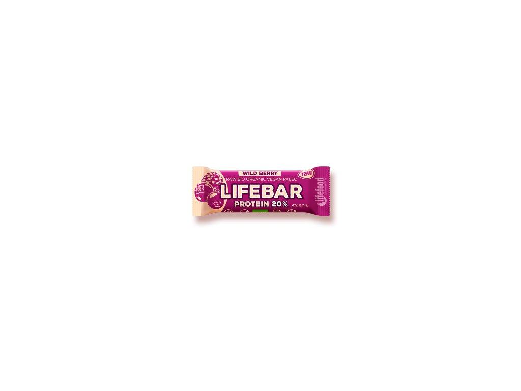 LIFEBAR PROTEIN BIO RAW wild berry 47 g LIFEFOOD